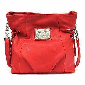 NWT Nicole Miller Red Marie Cross Body